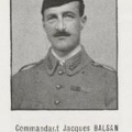 BALSAN Jacques, (Chateauroux, Indre), chef de bataillon de réserve à l'aviation