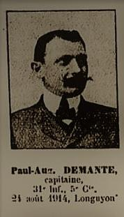 DEMANTE Paul, 031ème RI, 5ème Cie