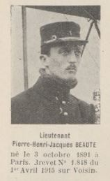 BEAUTE Pierre Henri Jacques, (Paris), pilote escadrille G.B. 4, 11-12.JPG